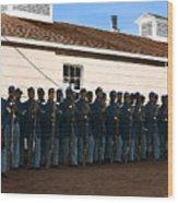 African American Troops In Us Civil War - 1965 Wood Print