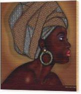 African Beauty Wood Print