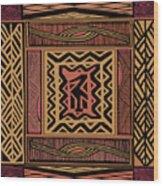 African Bird Collage Wood Print
