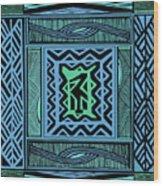 African Blue Bird Wood Print