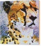 African Cheetah Wood Print