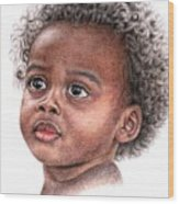 African Child Wood Print
