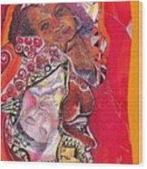 African Crown Wood Print
