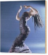 African Dancer Left View Wood Print