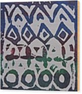 African Design  Wood Print