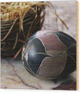 African Easter Egg Wood Print
