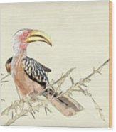 African Flying Banana Bird Wood Print