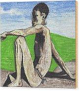 African Hunter Wood Print