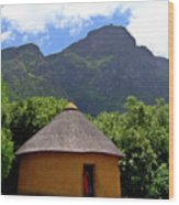 African Hut South Africa Wood Print