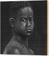 African Kid Wood Print