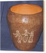 African Ladies Lead The Dance - View One Wood Print