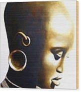 African Lady - Original Artwork Wood Print