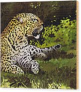African Leopard Wood Print