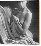 African Nude Kneeling On Chair 1191.01 Wood Print