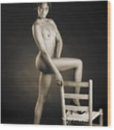 African Nude With Chair 1189.01 Wood Print