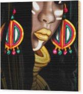 African Princess Wood Print