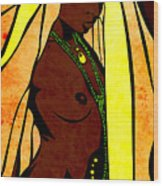 African Queen Wood Print by Sandra Hoefer