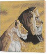 African Royalty Wood Print