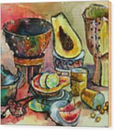 African Still Life Wood Print