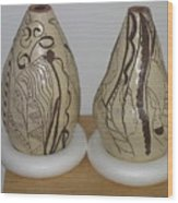 African Terracotta Gourds - View Two Wood Print