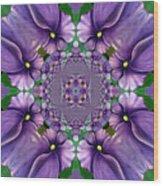 African Violet Wave Wood Print