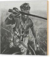 African Warrior Wood Print