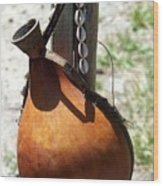 African Water Jug Wood Print