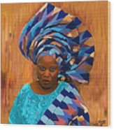 African Woman 5 Wood Print