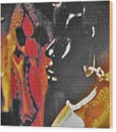 African Woman Statue Wood Print
