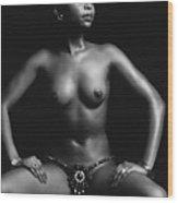 Africana Wood Print