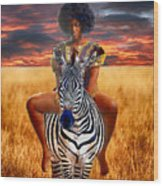 Afrikkan Princess  Wood Print