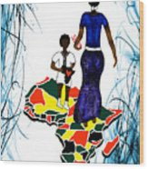 Afrique Walk Wood Print