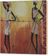 Afro Abstract Wood Print