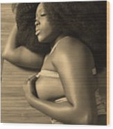 Afro Pic Wood Print
