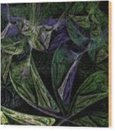 Afro-violet Feeling Wood Print