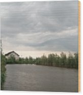 After A Rainy Day In Danube Delta Wood Print