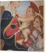 after Botticelli Madonna con il Bambino e un Angelo Wood Print