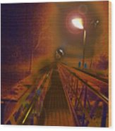 After Bridge Wood Print
