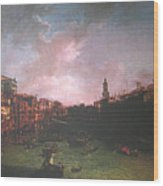 After Canal Grande Looking Northeast Wood Print