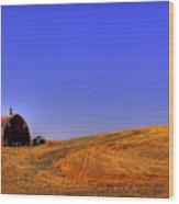 After Harvest Wood Print