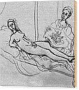 After Manet Wood Print