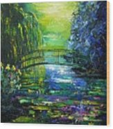 After Monet Wood Print