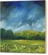After Spring Rain Wood Print by Linda L Martin