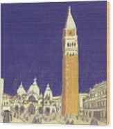 After St. Mark's Square Towards The Basilica Wood Print