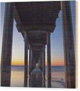 After Sunset At Scripps Pier Wood Print