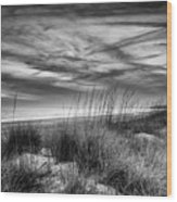 After Sunset In B And W Wood Print