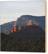 After Sunset In Sedona Wood Print