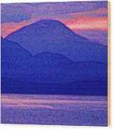 After Sunset Mountains 5 Pd Wood Print