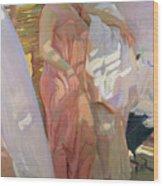 After The Bath Wood Print by Joaquin Sorolla y Bastida
