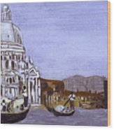 After The Grand Canal And The Church Of The Salute Wood Print